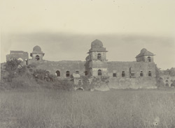Jahaj Mahal (Water Palace) from the West, [Mandu]
